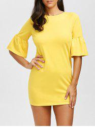 Flare Sleeve Bodycon Mini Dress