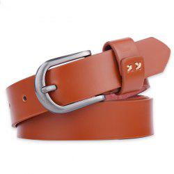 Plain Wide Belt with Pin Buckle