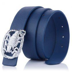 Wide Belt with Scorpion Shape Covered Buckle
