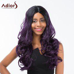 Adiors Long Middle Part Fluffy Wavy Colormix Synthetic Wig