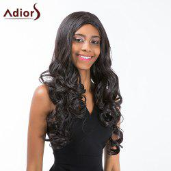 Adiors Long Middle Parting Shaggy Wavy Synthetic Wig