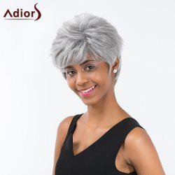 Adiors Shaggy Short Side Bang Straight Layered Synthetic Wig