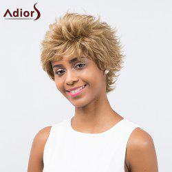 Adiors Inclined Bang Short Layered Curly Synthetic Wig