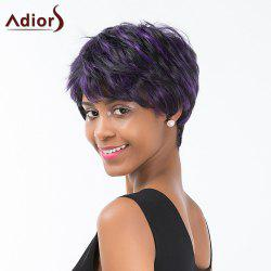Adiors Layered Colormix Short Side Bang Straight Synthetic Wig - COLORMIX