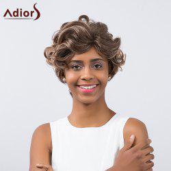 Adiors Short Side Part Colormix Fluffy Curly Synthetic Wig