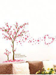 Removable Plum Blossom Tree Print Vinyl Waterproof Wall Sticker