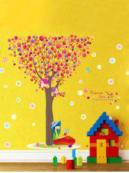 Colorful Bubble Tree Print Waterproof Children Room Wall Sticker