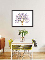 DIY Wedding Party Sign In Fingerprint Tree Wall Art Canvas
