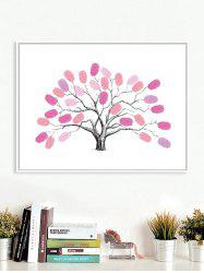 DIY Sign In Wedding Party Fingerprint Tree Wall Art Canvas