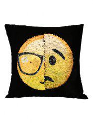 Disappointed But Relieved Face Reverisble Sequin Decorative Pillow Case