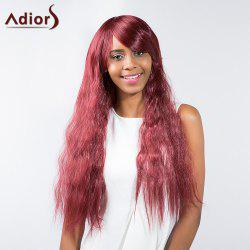 Adiors Long Side Bang Zig Zag Wave Synthetic Wig