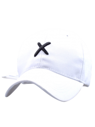 Cross Embroideried Baseball Hat with Tail