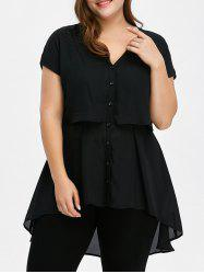 Plus Size Tunic Chiffon Top