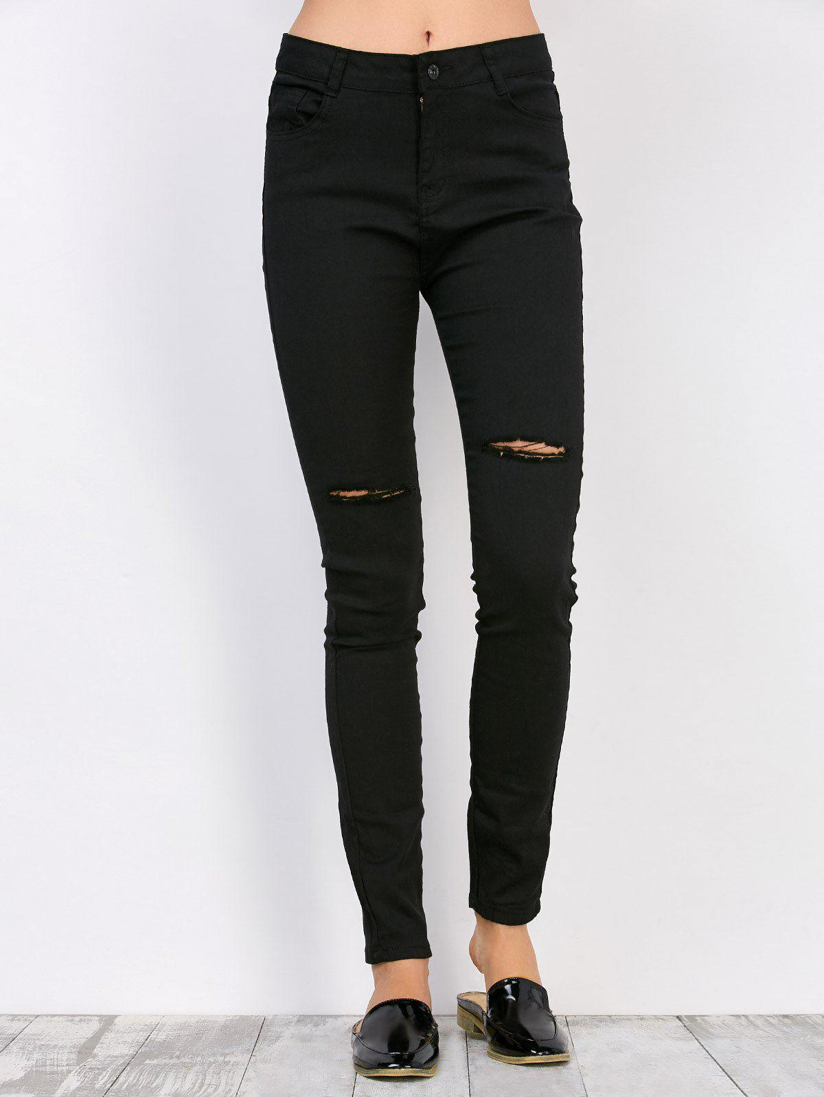 Sale High Waisted Distressed Jeans