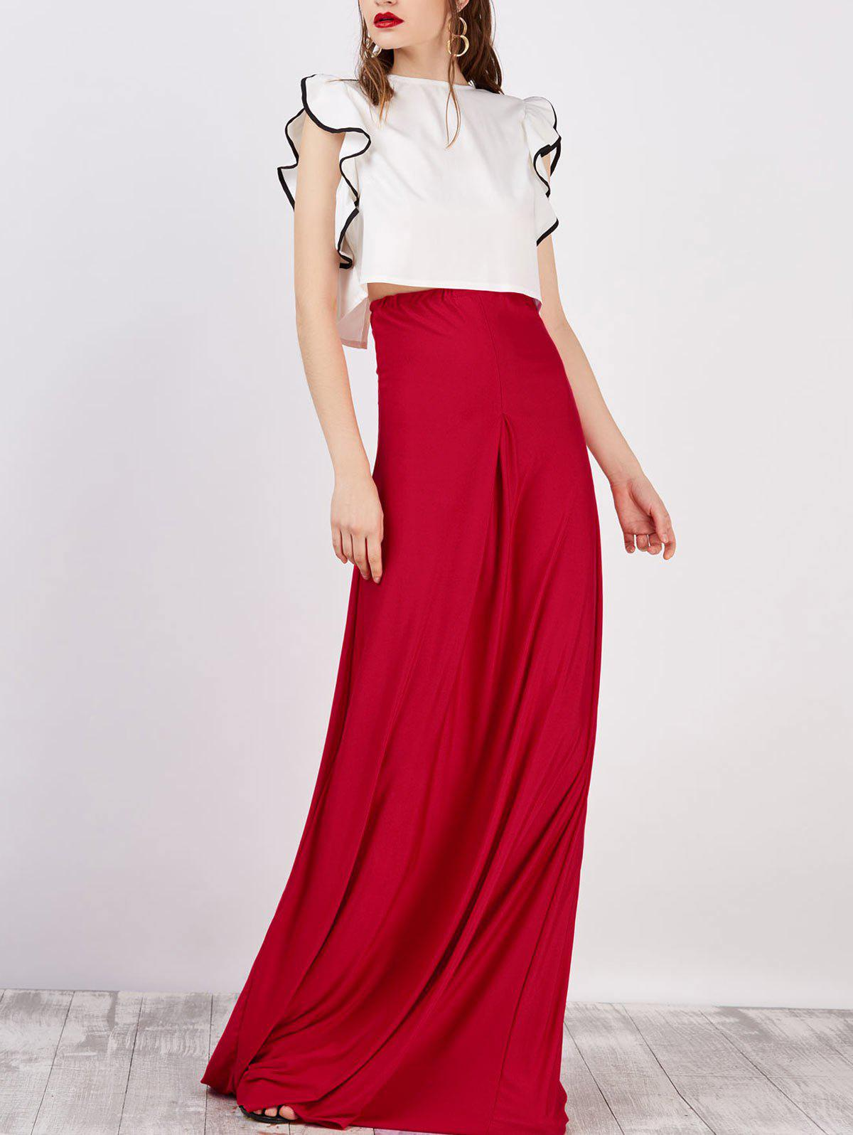 Buy Strapless Maxi Dress With Cape