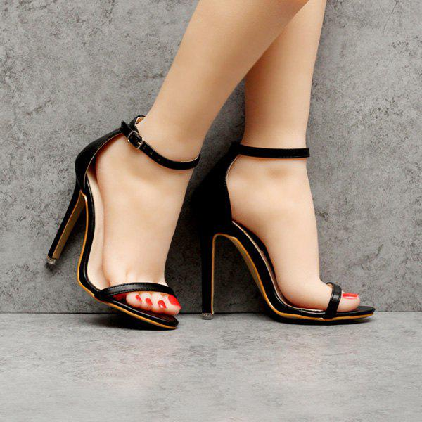Latest Ankle Strap PU Leather Sandals
