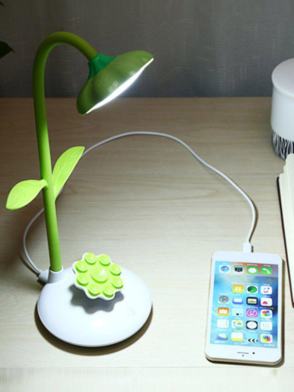 Tournesol Forme Rotating Rechargeable Lampe de table LED