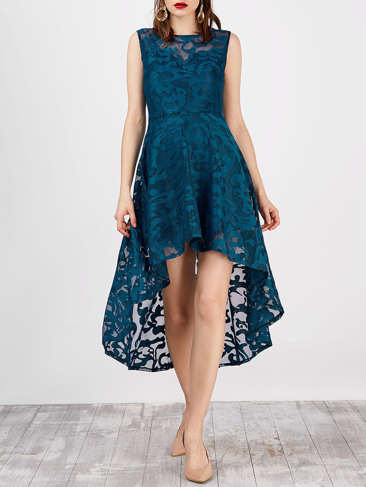 Outfits Lace High Low Swing Evening Party Dress