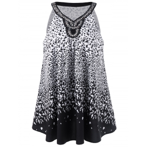 Plus Size Beading Embellished Tank Top