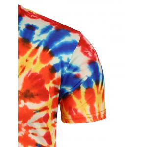 Tie Dye All Over Print T-Shirt - ORANGE XL