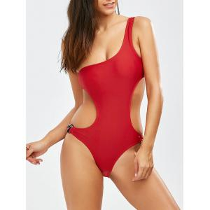 One Shoulder Open Back Monokini Swimwear