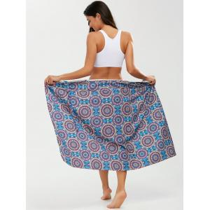 Tribal Loop Printed Lace Up Sarong - Purple - One Size
