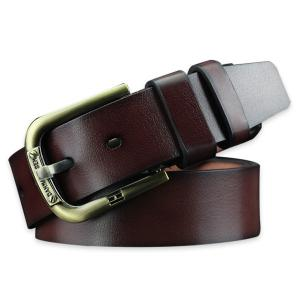 Vintage Faux Leather Roller Buckle Belt