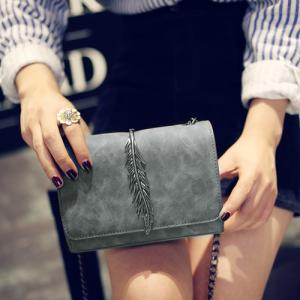 Metal Leaf Chains Crossbody Bag -