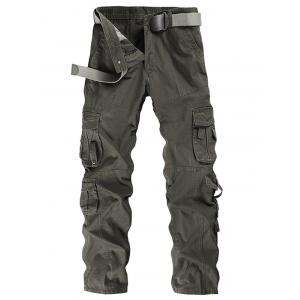 Pockets Embellished Straight Leg Cargo Pants