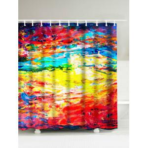 Abstract Painting Water Resistant Graffiti Shower Curtain