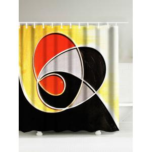 Abstract Geometry Waterproof Drawing Shower Curtain - Colormix - 180*200cm