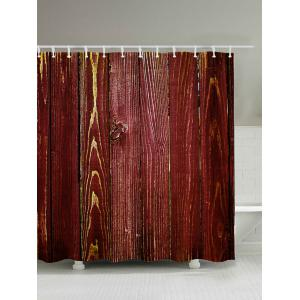 Wood Grain Print Bathroom Shower Curtain
