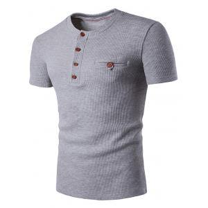 Fake Pocket Henley T-Shirt