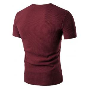 Fake Pocket Henley T-Shirt -