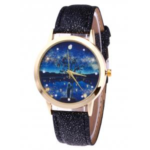 Glitter Strap Tree Starry Night Watch