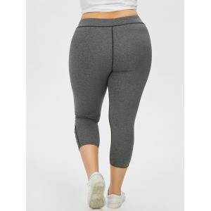 Plus Size Side Criss Cross Capri Leggings -
