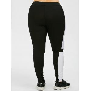 Plus Size Colorblock Workout Leggings -