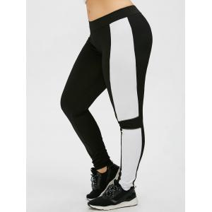 Leggings d'exercices Colorblock taille plus -