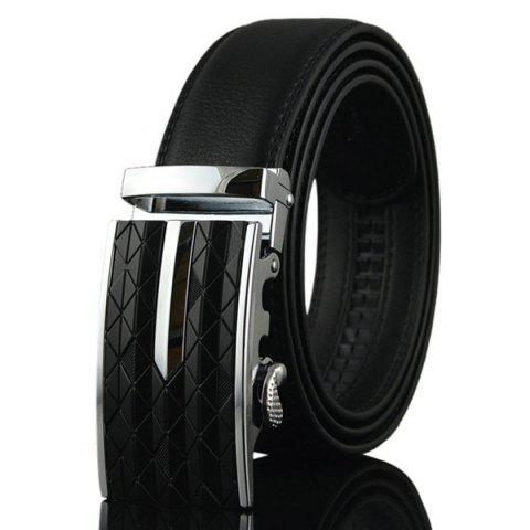 Shop Argyle Carve Metal Buckle Artificial Leather Belt