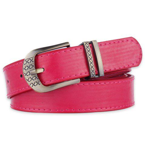 Shops Metallic Engraved Pin Buckle Faux Leather Bet - TUTTI FRUTTI  Mobile