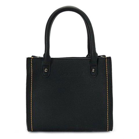 Online Stitching PU Leather Handbag