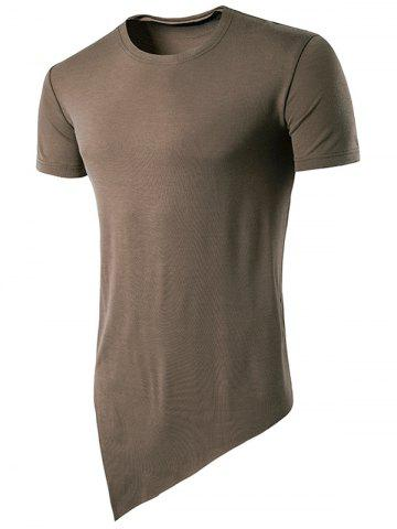 Discount Asymmetric Hem Basic T-Shirt