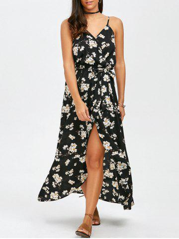 Shop Long Floral Slip Boho Wrap Swing Dress