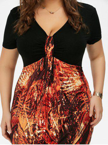 Chic Plus Size High Waist Sheath Dress - 5XL COLORMIX Mobile