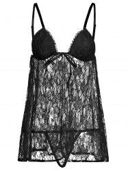 Lace See Thru Backless Camisole