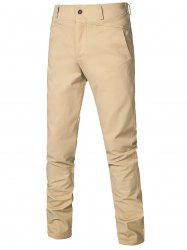 Straight Leg Zipper Fly Casual Chino Pants