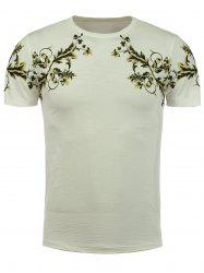 Short Sleeve Plant Print T-Shirt