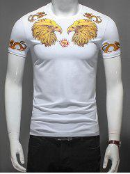 Dragon and Eagle Print T-Shirt