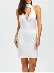Halter Open Back Bodycon Cocktail Dress