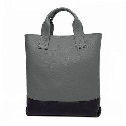 Dark Colour Faux Leather Tote Bag